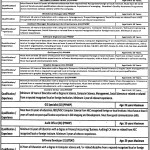 Public Sector Jobs in an Organization – Lahore